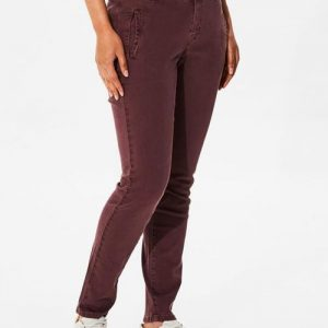 Damen Chinos Online - Selected Femme - Regular Fit Chino - Rot